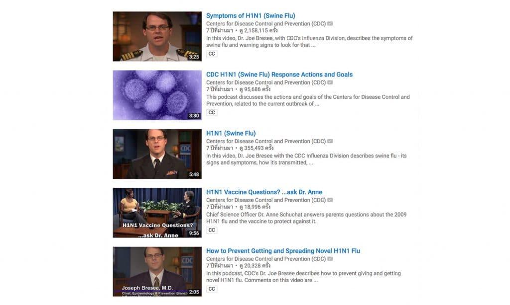 YouTube CDC