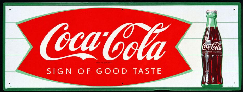 Coca-Cola Logo 1958 Fishy