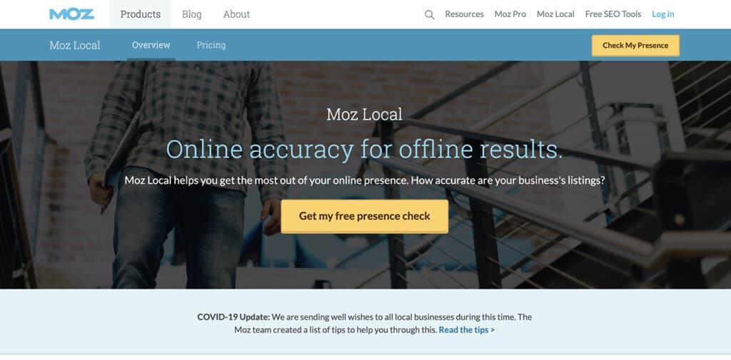 Moz - Check Your Online Presence
