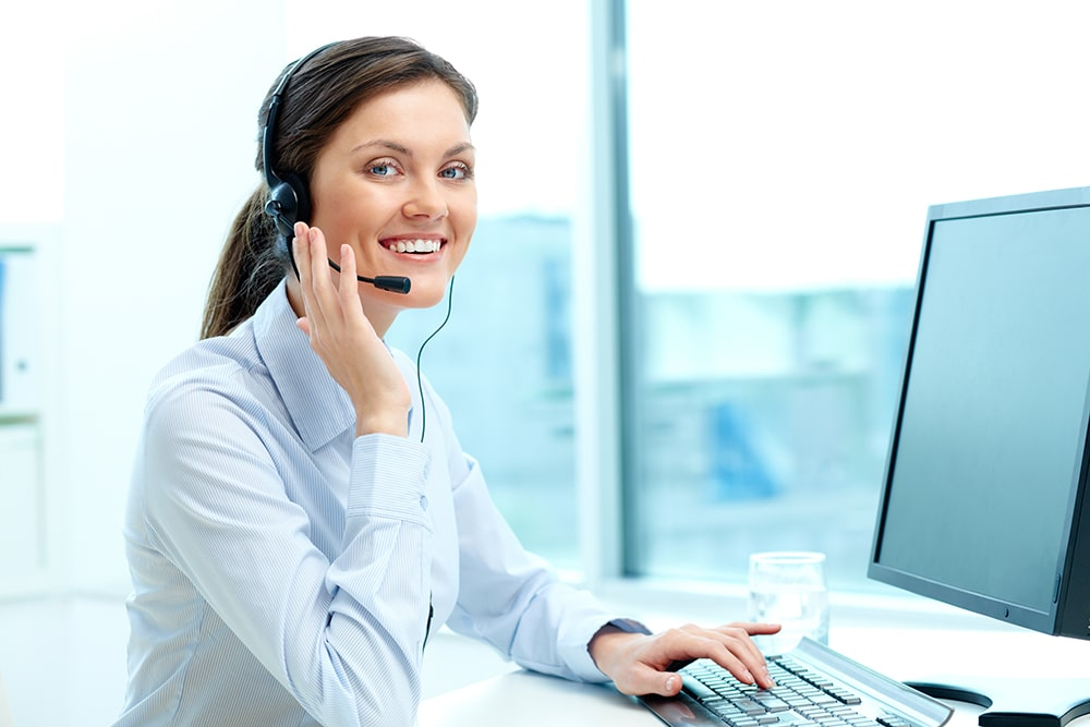 Business woman trying to call customers