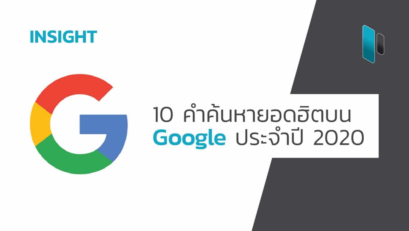 10 คำค้นหายอดฮิตบน Google แห่งปี 2020 (10 Keyword Search on Google 2020)