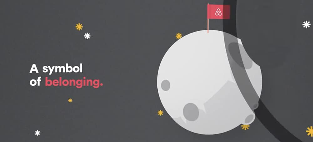 The meaning of Airbnb logo