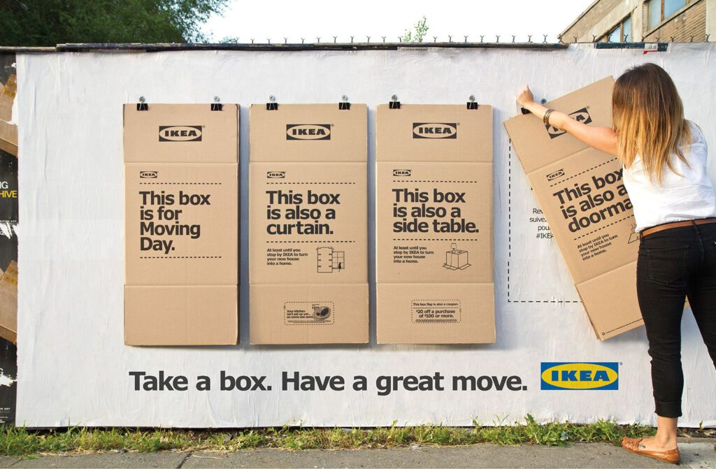 IKEA Take a box campaign