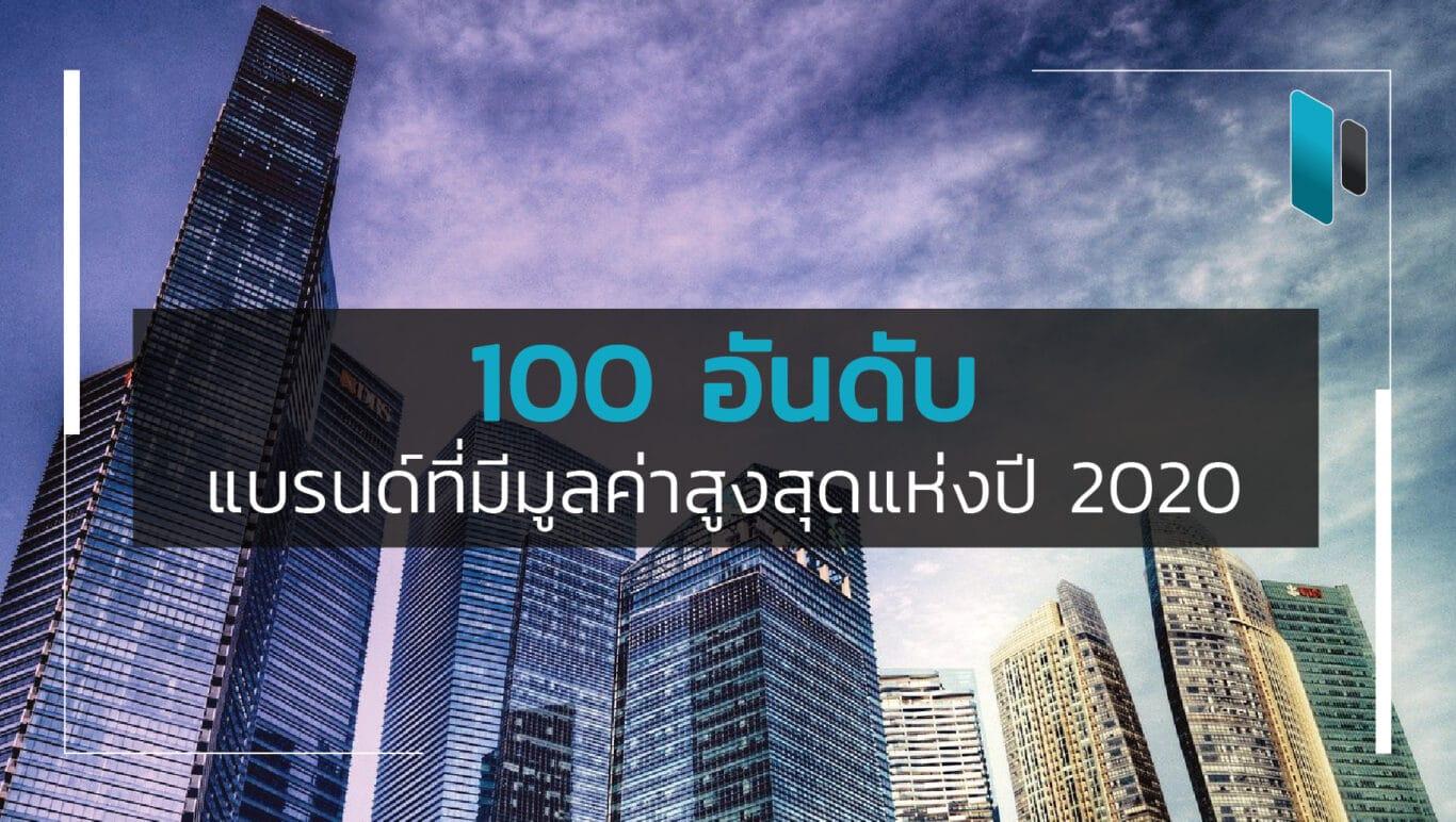 100 อันดับแบรนด์ระดับโลกที่มีมูลค่าสูงสุดในปี 2020 (Top 100 Most Valuable Brands in 2020)