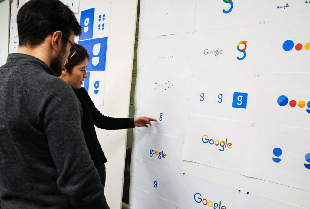 Google rebrand process
