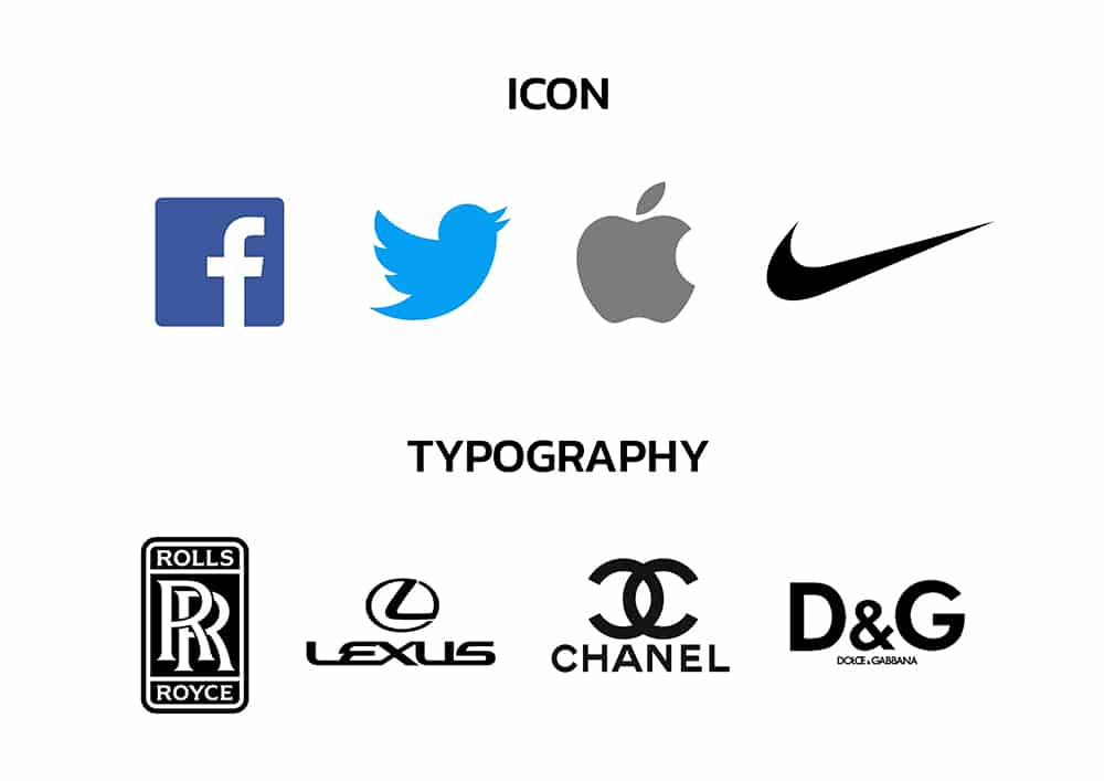 Icon and Typography Logo