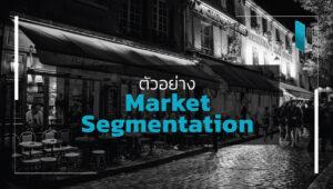 ตัวอย่าง Market Segmentation