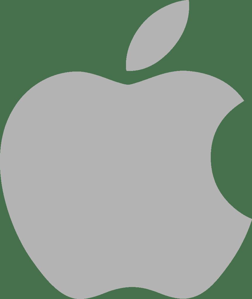 Apple Logo Grey Color